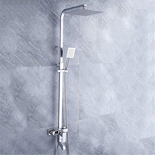 NewBorn Faucet Wasserhähne Warmes und Kaltes Wasser Guter Qualität Das Badezimmer Spray Dusche Wasser Ultra-Thin Quad Massage Kit Regen Sprinkler Quartett Handbrause Tippen für dritten Gang