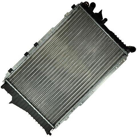 Radiador de refrigeración agua para vehículos con caja de cambio manual AUDI 100 C3 44 2.3 01.90-11.90; AUDI 100 +AVANT C4 4A 2.0 2.3 2.4 2.5 S4 1990-94; AUDI A6 +AVANT C4 4A 1.8 1.9 2.0 2.3 2.5 S6 1994-97; DIMENSIONES 632-411-30 MM