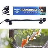 Tingkam® 28CM 30 leds weiß Aquarium Beleuchtung Mondlicht Licht Wasserdicht IP 68 Fische Lampe