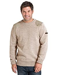 WoolOvers Pull à col rond Chasseur - Homme - Pure Laine