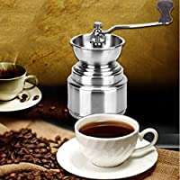 ELECTROPRIME Portable Ceramic Burr Manual Coffee Grinder Hand Crank Coffee Bean Mill