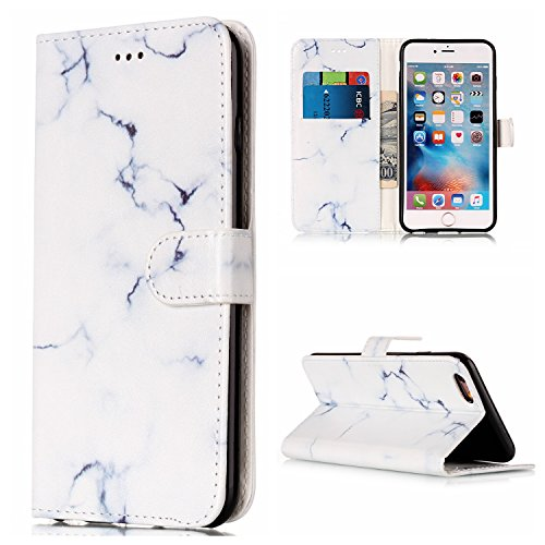 Lomogo iPhone 6S / iPhone 6 Leather Wallet Case with Kickstand Credit Card Holder Magnetic Closure Shockproof Flip Case Cover for Apple iPhone 6S / 6 (4.7-inch)