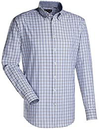 Jacques Britt Herren Business Custom Fit Langarm Button-Down-Kragen Bügelleicht