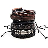 Best Bracelets  Boys - University Trendz Wrap Real Leather Bracelet for Men(Brown) Review
