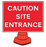 Caledonia signos 58208señal, precaución sitio entrada reflectante cono