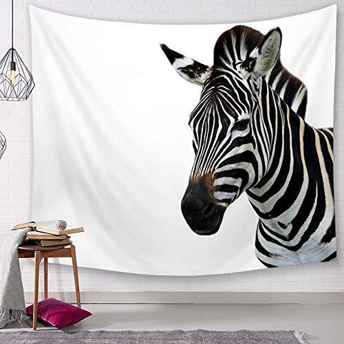 Tapestry Wall Hanging, Zebra Foto,3D-Tier Digital Print Fabric, Indische Böhmischen Hippie Vogue Vintage Nordic Minimalismus Große Wand Kunst Dekor Für Wohnheim Wohnzimmer, 150 × 130 cm Vintage Vogue-fotos
