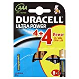 Duracell Ultra Power MX2400 Alkaline AAA Batteries - 4-Pack + 4 Free