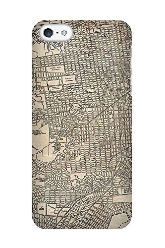 iPhone 4/4S Coque photo - Retro Map San Francisco Grunge