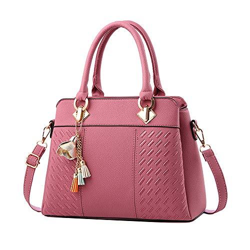 Ihengh borse a spalla rgazza in pu pelle borsa a mano donna moda handbag semplice elegante tote donna borsette casual work nero rossa inverno shopping partito festa estate