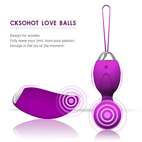 Cksohot® Massage Balls with Remote Control and Wireless Balls Waterproof Silicone Case Cover for Women