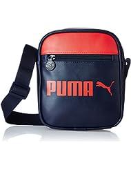 Bandolera PUMA campus portable Azul Peacoat/High Risk Red Talla:18 x 6 x 21 cm, 1.5 Liter