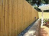 DE-COmmerce Haute Qualité Clôture de Jardin Brise-Vue Bambou Aty Nature I Jardin, Terrasse, Balcon Brise-Vue Bambou avec Fermé Tuyaux I Coupe-Vent Bambou - Marron, 150 cm x 500 cm