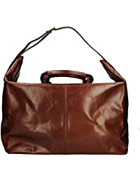 ffeac0380f27 The BRIDGE Large Luxury Leather Bag genuine Italian bag Beautiful classic  Brown Travel bag STORY VIAGGIO