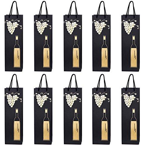 Bolsas para botellas elegantes y con acabado de alta calidad para regalar Las elegantes y hermosas bolsas para botellas son ideales para regalar vino, prosecco o champán.Las bolsas para botellas están muy bien elaboradas y convencen por su gran varie...