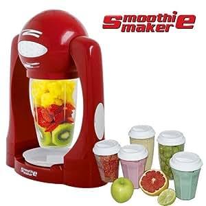 Smoothie Maker rouge + 5 verres suppl