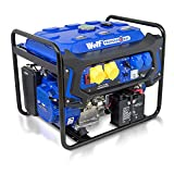 Wolf Professional WPX7500E 7000 Watt 15HP 115v / 230v Dual Voltage Petrol Engine Portable Generator – Electric Start