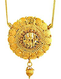 Shining Jewel 24K Traditional Gold Pendant Necklace For Women (SJ_2297)