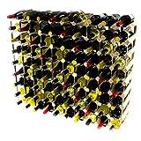 Cranville wine racks Classic pineta di 90 Bottiglie e zincato Metallo Vino Rack autoassemblaggio