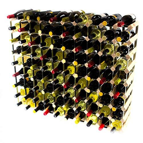 Cranville wine racks Klassische 90Flasche Kiefernholz und verzinktem Metall Weinregal fertig...