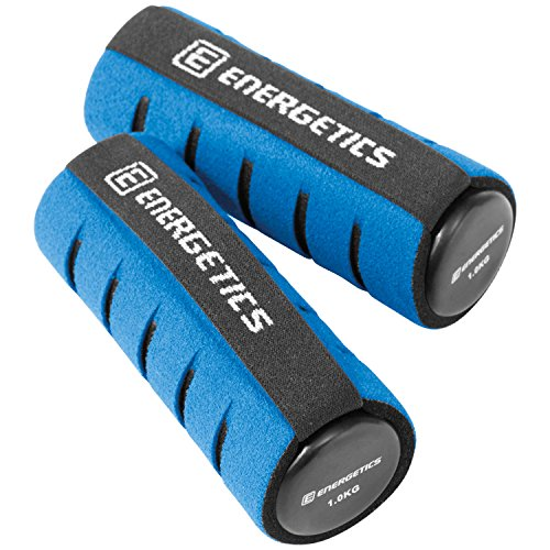 ENERGETICS Hantel Soft mit Handschlaufe Hanteln Grau/Blau, 2 x 1 kg