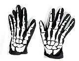 Preis am Stiel 1 Paar - Halloween Handschuhe Skelett | Karneval | Kostüm Zubehör | Horror | Halloween Accessoires | Fasching | Skeletthandschuh | Verkleidung