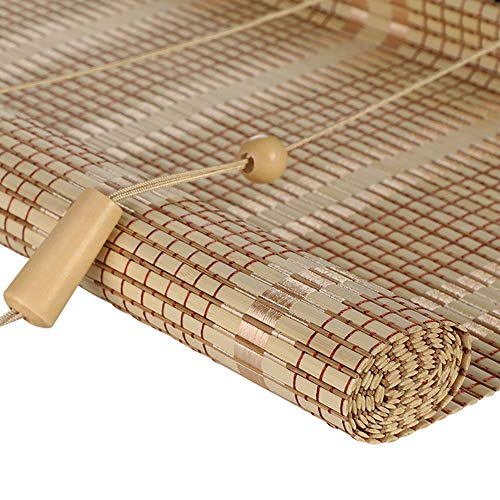 Tende a rullo bamboo window shade drape curtain, per finestre e porte -privacy blackout window blinds (colore : giallo, dimensioni : 60x220cm)