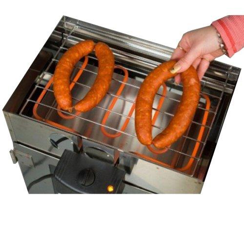 Premium XL Grill – Räucherofen Zubehör Räuchertonne räuchern+grillen Heizspirale zum räuchern Boni-Shop®