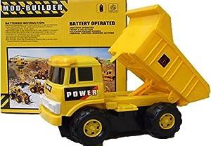Allkindathings Juguete Construcción Camión Lorry Set con Construcción de Parachoques Site Niños/Niñas