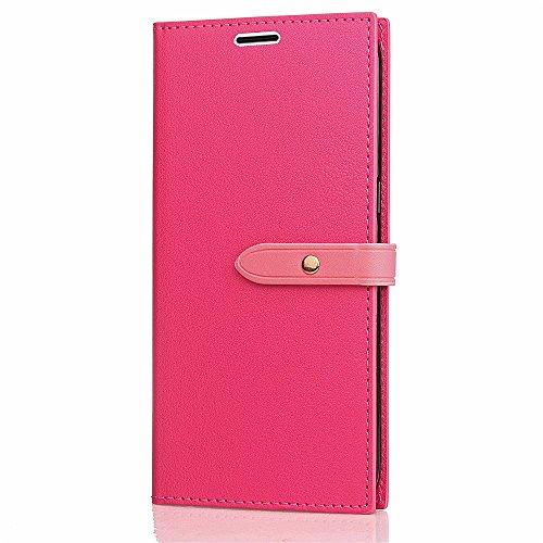 EKINHUI Case Cover Slim Premium PU Leder Brieftasche Case Horizontale Flip Stand Schutzhülle mit Card Slots und Niet Gürtelschnalle Closure für Xiaomi Hongmi Note 4X ( Color : Rose ) Rose