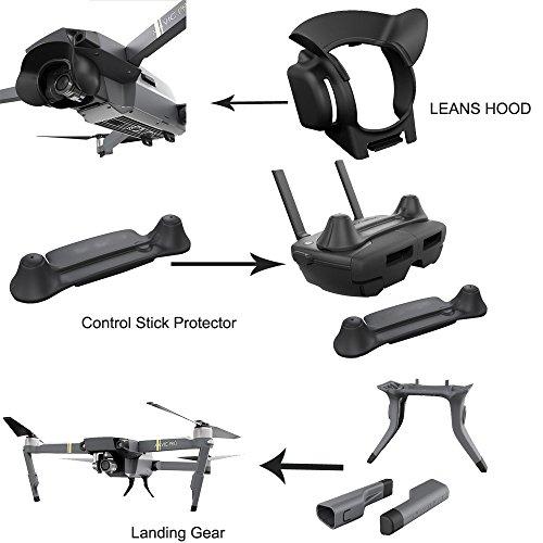 ALIKEEY Kamera Zubehör erweiterte Fahrwerke + Gegenlichtblende + Wippschutz für DJI Mavic Pro Parts