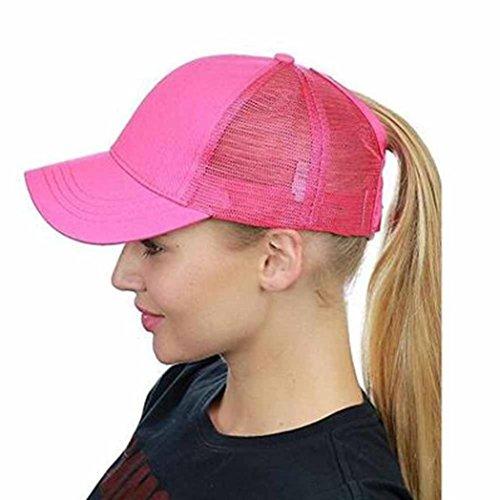 Btruely Baseball Cap Unisex Mütze Damen Snapback 2018 Neu Hysteresenhut Einstellbar Netzkappe Flacher Hut Herren Vintage Baseball Cap Jungen Hip Hop Hut (Ein Größe, Pink)