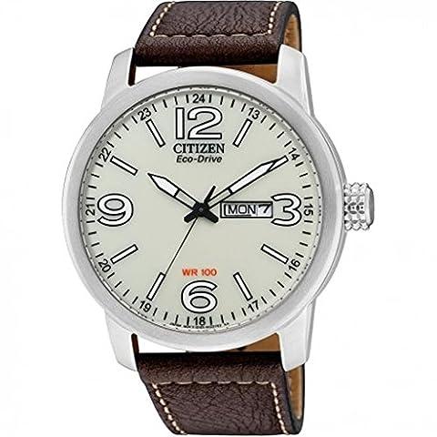 Citizen Herren-Armbanduhr XL Analog Quarz Leder BM8470-03AE