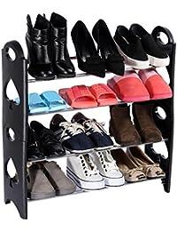 Acquik 4 Tier Free Simple Standing Home Organizer Stackable Shoe Rack