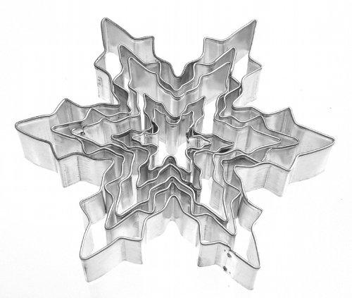 Keksausstecher Schneeflocke, Eiskristall 5-tlg Weißblech
