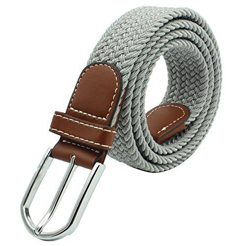 tgürtel Elastischer Stoffgürtel Stretchgürtel Waistband mit Metallschnalle für Taille 28-36