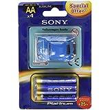 Sony AM3PT-B4A -  Pack 4 pilas r06/aa  + mini automóvil VW Beetle