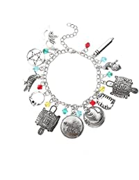 LUREME The Legend of Zelda Bracelet 10PCS Charms Lobster Clasp Bracelet (bl003476)