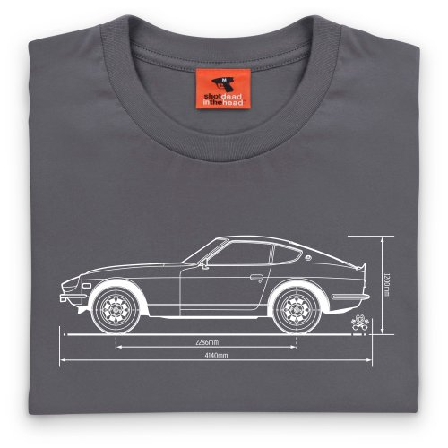 PistonHeads Fairlady Z Sports Car T-Shirt, Herren Anthrazit