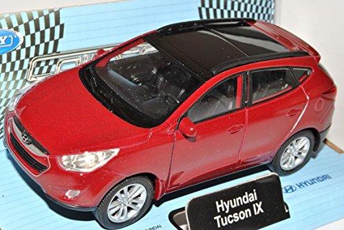 hyundai-ix35-tucson-rot-ab-2009-ca-1-43-1-36-1-46-welly-modell-auto-mit-individiuellem-wunschkennzei