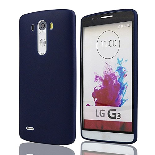mStick Candy Color Ultra Slim Soft Silicon Back Cover For LG G3 Navy Blue  available at amazon for Rs.99