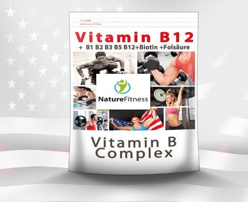 Aus B12-vitamine Natur Der (Vitamin B 12 Komplex plus B1 B2 B3 B5 + Biotin +Folsäure 250 Tabletten)