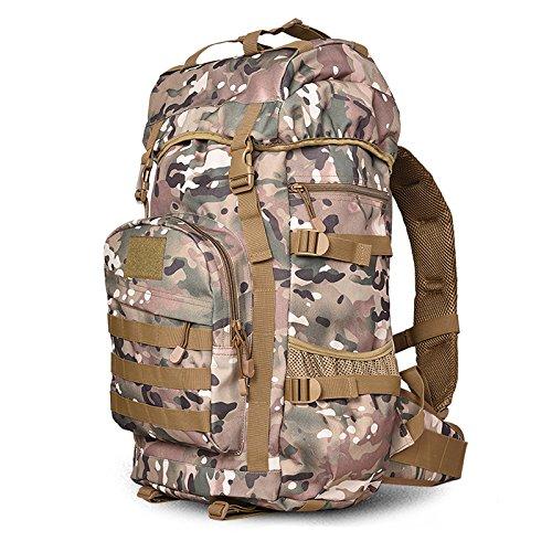 Outdoor multifunktionale Männliche und weibliche Doppel Schulter bergsteigen Tasche großer Kapazität travel Rucksack 50 L Reisen camouflage Rucksack 60 * 35 * 24 cm, ACU-camouflage 55 L CP Camouflage 55 L