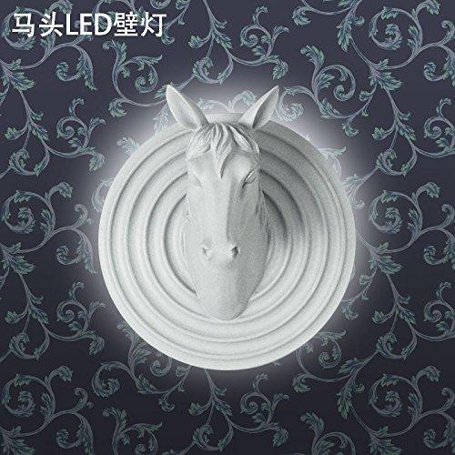 Daadi Geführte Hintergrundwandlampe Wohnzimmerstudio Internet-Cafés Kaffeestube-Dekorationsgeweihlichter, Pferdekopf LED-Wandlampe