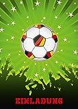 11 Fussball-Einladungen (Set 2) / Geburtstagseinladungen Kinder Mädchen Jungen: 11-er Set Fussball-Einladungskarten zum Kindergeburtstag oder zum Fussball-Spiel von EDITION COLIBRI (10692)
