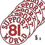 Hells Angels WorldWide Support Store / Big Red Machine World - Aufkleber Hells Angels Sticker 5 Stickers Support 81 Worl