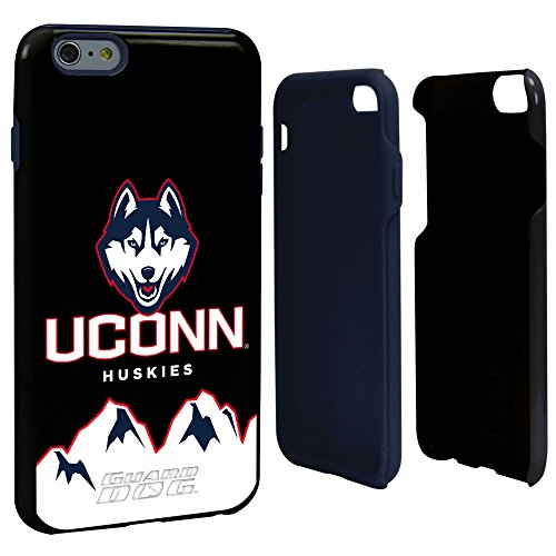 NCAA Connecticut Huskies Hybrid-Schutzhülle für iPhone 6 Plus, Schwarz, One - Iphone Armor Otterbox 6