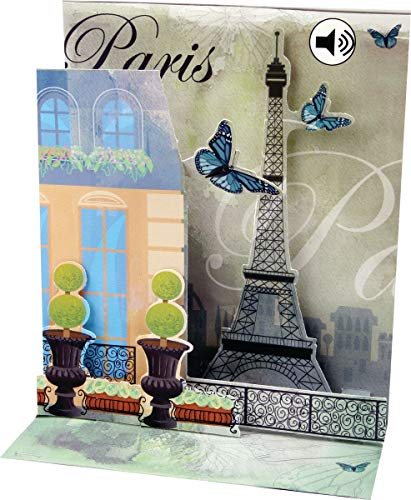 PopShots Studios Sound Pop Up 3D Karte Hochzeit Geburtstag Musik Paris Romantik Liebe 18x13cm