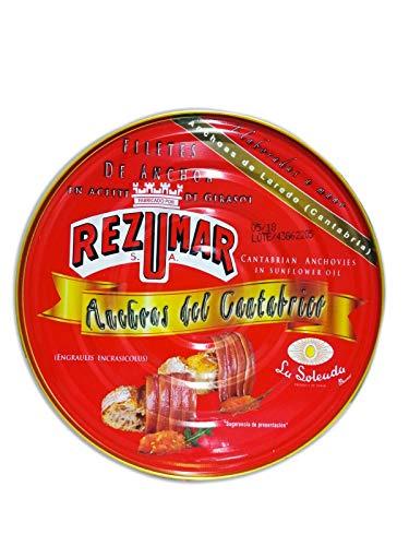 Filetti di acciughe in olio girasole del Mar Cantabrico - Rezumar 500gr
