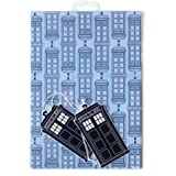 Doctor Who 500x700mm Wrapping Paper - Blue