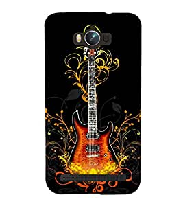 printtech Flaming Abstract Guitar Back Case Cover for Asus Zenfone Max ZC550KL